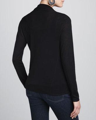 Eileen Fisher Merino Draped-Neck Top, Women's