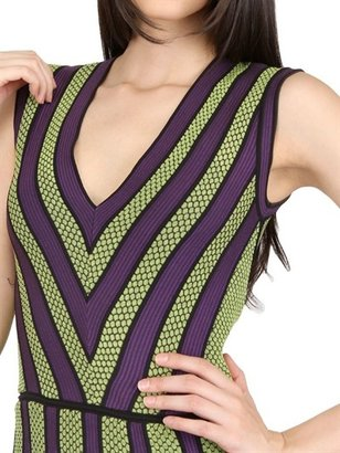 M Missoni Jacquard Striped And Honeycomb Dress