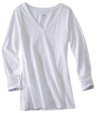 Mossimo Juniors Long Sleeve V-Neck Tee - Assorted Colors