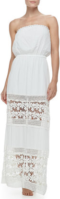 6 Shore Road by Pooja Charlotte's Crochet-Panel Maxi Dress Coverup