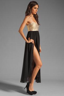 One Teaspoon Cash On Sequin Bustier Maxi Dress
