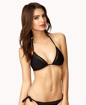 Forever 21 Mesh Triangle Bikini Top