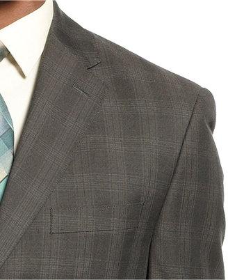 Sean John Suit Separates, Brown Plaid Jacket