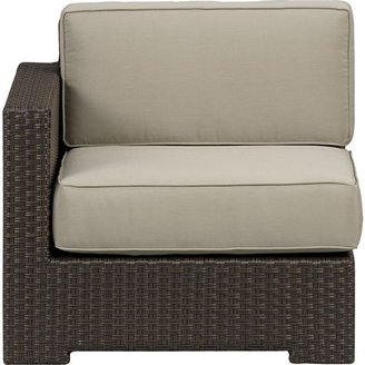 Crate & Barrel Ventura Modular Left Arm Chair with Cushions (includes one seat and one back cushion) in Sunbrella: Stone
