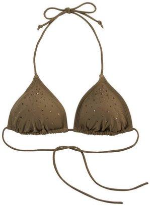 aerie Jeweled Triangle Bikini Top