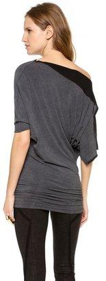 Donna Karan Draped Tunic Top
