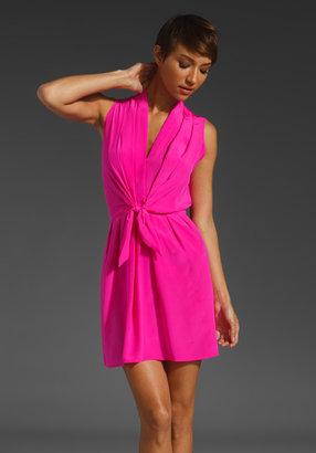 Amanda Uprichard Sleeveless Tie Front Dress
