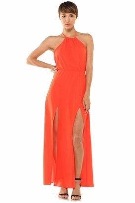 Lovers + Friends Smokin' Hot Halter Dress in Tangerine $199 thestylecure.com
