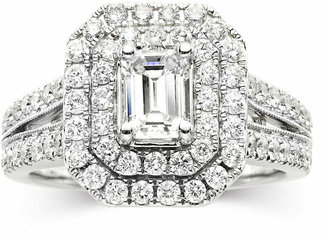 MODERN BRIDE Modern Bride Signature 1 CT. T.W. Certified White & Color-Enhanced Blue Diamond Ring