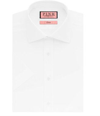 Thomas Pink Boot Plain Classic Fit Short Sleeve Shirt