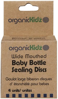 Green Baby organicKidz Wide Mouthed Bottle Sealing Disks - White - One Size - 4 pk