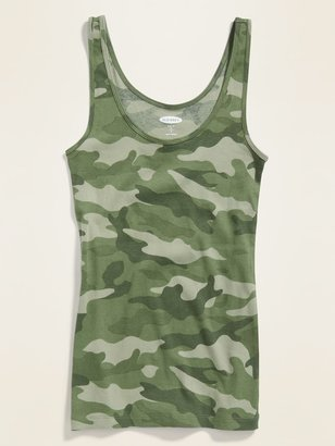 Old Navy First Layer Slim-Fit Camo Tank Top for Women