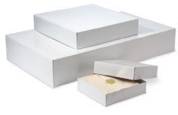 "Container Store 11-1/2"" x 8-1/2"" x 1-5/8"" h 2-pc. Gift Box White"