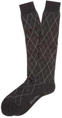 Brooks Brothers Raker Pattern Over-the-Calf Socks