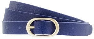 J.Crew Leather round-buckle belt