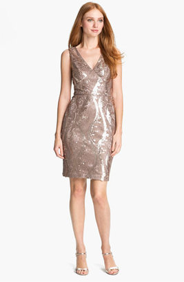 Adrianna Papell Embellished Lace Cocktail Dress (Regular & Petite)