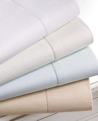Martha Stewart CLOSEOUT! Collection Bedding, Luxury Flannel King Sheet Set