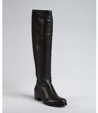 Jimmy Choo black leather 'Genna' side zip tall boots