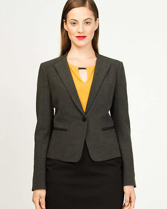 Le Château Woven Collarless Classic Fit Blazer