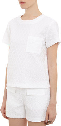 Lisa Perry Jacquard Boxy Short-sleeve Top