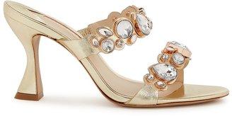 Sophia Webster Ritzy 85 Crystal-embellished Leather Mules