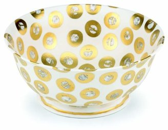 Michael Wainwright Tempio Luna Gold Round Serving Bowl