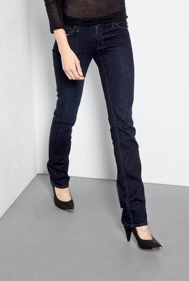 Hudson St Martin Navy Carly Mid-rise Straight Leg Jeans