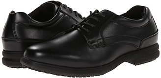 Nunn Bush Sherman Slip Resistant Plain Toe Oxford (Black) Men's Lace up casual Shoes