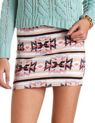 Charlotte Russe Multicolor Tribal Mini Skirt