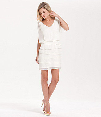 Laundry by Shelli Segal Tiered-Skirt Dress