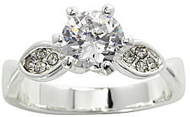 JCPenney city x city Clear Crystal Statement Ring