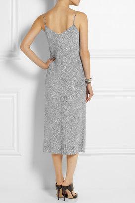 Alexander Wang Printed stretch-silk georgette slip dress
