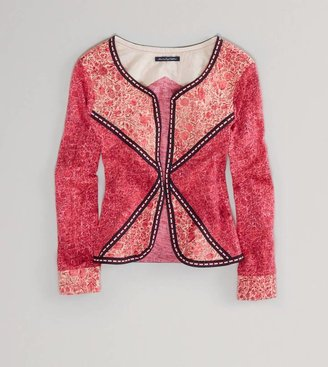 American Eagle AE Embroidered Paisley Jacket