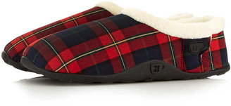 Topman Homeys Red Check Slippers