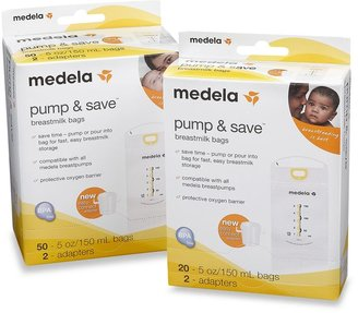 Medela Pump & Save Breast Milk Bags With Easy-Connect Adapter