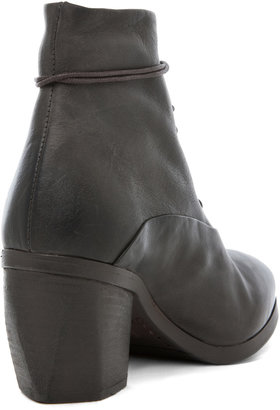 Marsèll Leather Lace Up Booties in Marcio