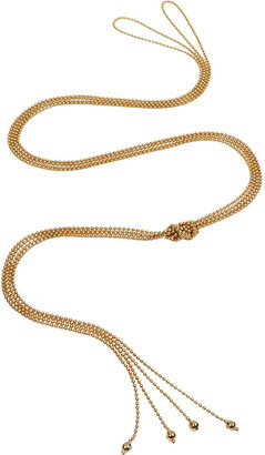 Mara Carrizo Scalise Gold Plated Ajustable Knot Two Straps Necklace