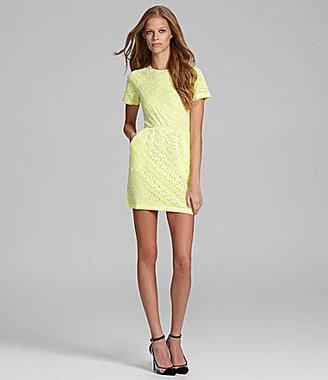 Dolce Vita Ritsa Neon Lace Cutout-Back Dress