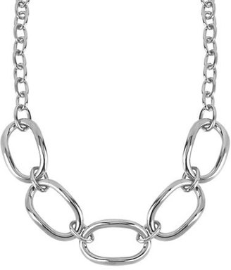 Robert Lee Morris Silver-Tone Large Oval Link Frontal Necklace