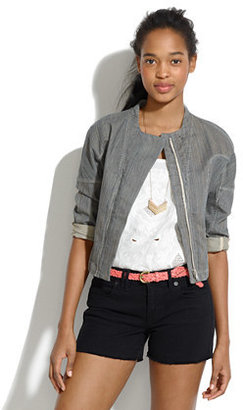 See by Chloe Overdyed Striped Denim Jacket