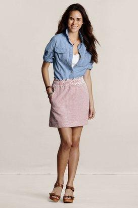Lands' End Canvas Women's Seersucker Skirt