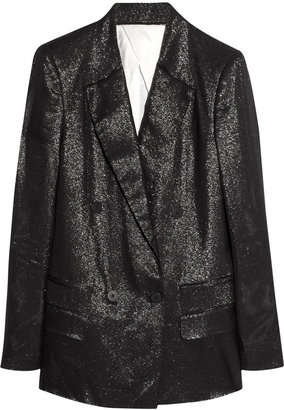 Karl Lagerfeld Jela metallic-flecked twill jacket