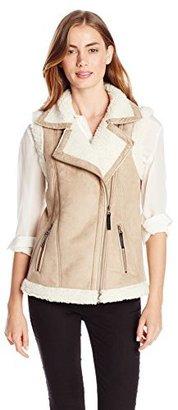 Design History Women's Shearling Vest $57.60 thestylecure.com
