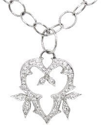 Cathy Waterman Thorn Heart Pendant with Diamonds - Platinum