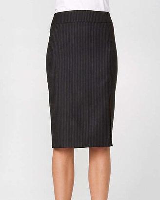 Le Château Striped Wool Blend Pencil Skirt