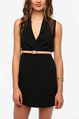 Sparkle & Fade Surplice Sleeveless Dress