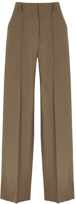 Nanushka Cleo Brown Wide-leg Trousers