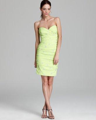 Nicole Miller Dress - Strapless Jacquard
