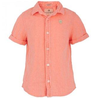 Scotch Shrunk Linen Blend Coral Shirt