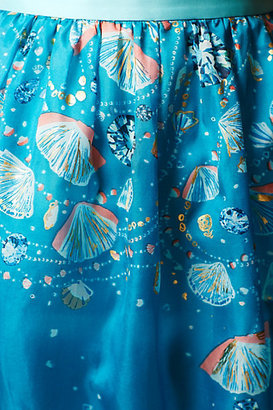 Anthropologie Seascape Maxi Skirt